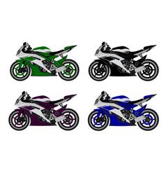 Motorcycles sport in vector