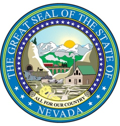 Nevada seal vector
