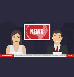 News on tv breaking news vector