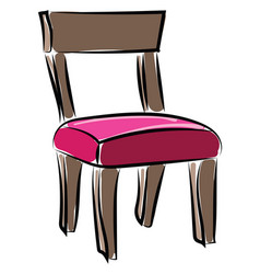 old chair on white background vector image
