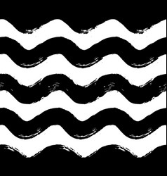 Painted horizontal wave pattern vector