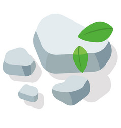 Pebbles flat vector