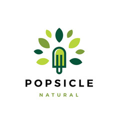 Popsicle natural tree leaf logo icon vector