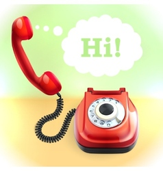 Retro style telephone background vector image
