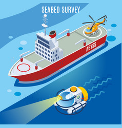 sea bed survey background vector image