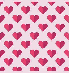 seamless heart pattern ideal for valentines day vector image