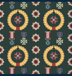 Seamless pattern with orders and medals vector