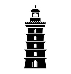 Searchlight icon simple style vector