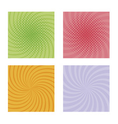 set burst pattern colors vector image