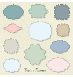Set of decorative labels vector image