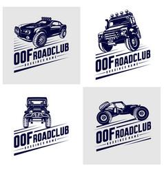 Set off-road car logo off-road 4x4 extreme vector