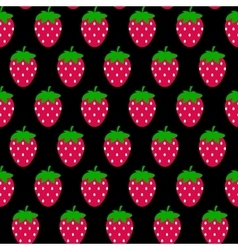 Simple Strawberry Seamless Pattern Background vector image