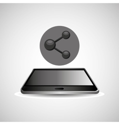 Smartphone black lying sharing icon design vector