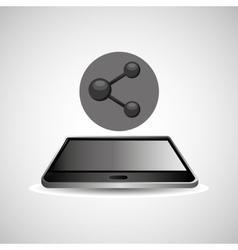Smartphone black lying sharing icon design vector