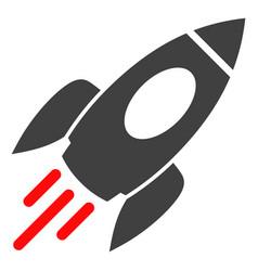 Space rocket flat icon symbol vector