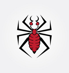 Spider tribal image vector
