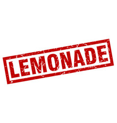 Square grunge red lemonade stamp vector