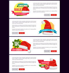 Super choice christmas sale web banners buttons vector