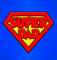 Super dad superhero emblem vector