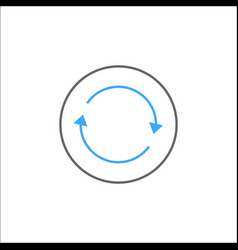 Synchronization solid icon mobile sign and app vector