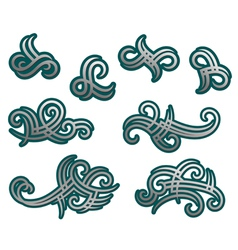 Tribal tracery elements and embellishments vector image