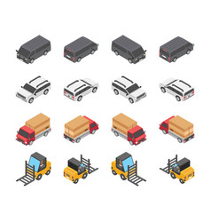 type of vehicles icon set vector image
