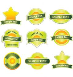 various labels vector image vector image