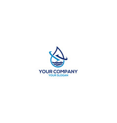 Water disposal and recycling logo design vector