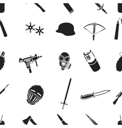 Weapon pattern icons in black style Big vector