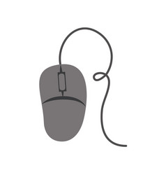 White background with gray silhouette of computer vector