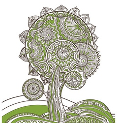 Abstract ornamental magic tree vector image