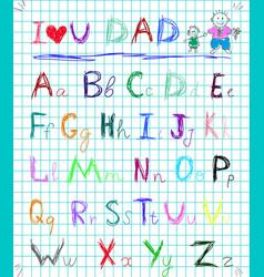 multicolored baby sketch hand drawn doodle vector image