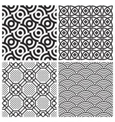 pattern set vector image vector image