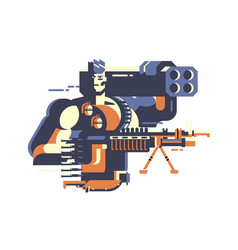 soldier with gun vector image