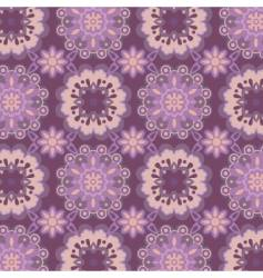 abstract flowers pattern vector image vector image