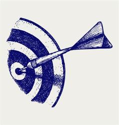 Arrow in target vector image vector image