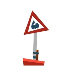 Attention train road sign vector image vector image