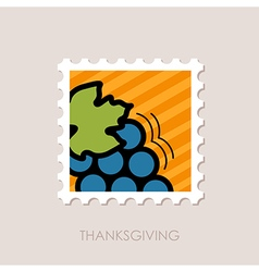 Bunch of grapes stamp Harvest Thanksgiving vector image vector image