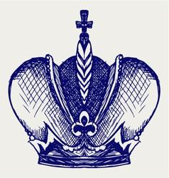 Crown vector image vector image