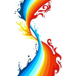 fire and water vector image vector image