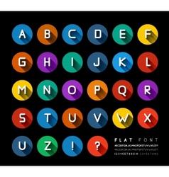 Flat font vector image vector image