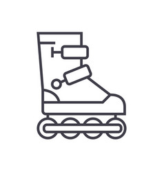 roller skates line icon sign vector image vector image