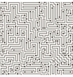 seamless pattern in the form of a labyrinth vector image