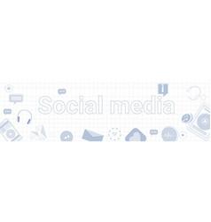 social media communication concept internet vector image vector image