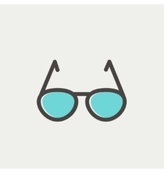 Sunglasses thin line icon vector image