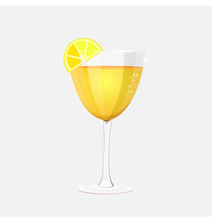 glasses with cocktail realistic style vector image vector image