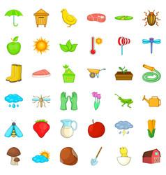 ladybag icons set isometric style vector image vector image