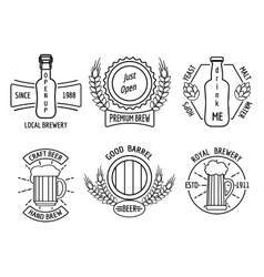 Line logo templates for beer house and craft vector image vector image