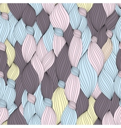 seamless pattern from hair and strips vector image