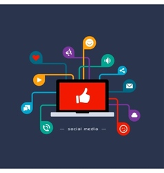 Social media flat concept vector image